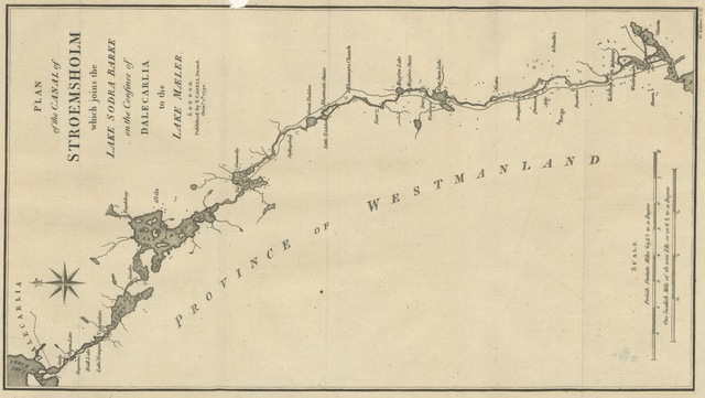"Strömsholm Canal from ""[Travels into Poland, Russia, Sweden, and Denmark. Interspersed with historical relations and political inquiries. Illustrated with charts and engravings.]"""