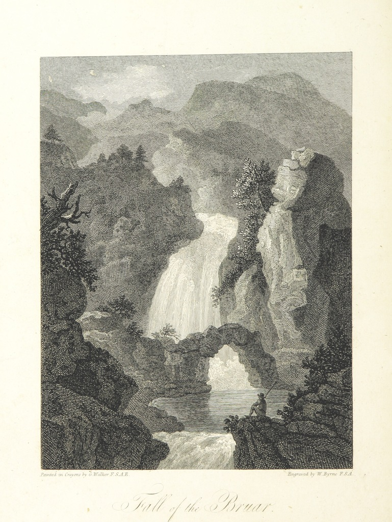 "engraving from ""Scottish Scenery: or, Sketches in verse, descriptive of scenes chiefly in the Highlands of Scotland: accompanied with notes and illustrations; and ornamented with engravings by W. Byrne ... from views painted by G. Walker, etc"""