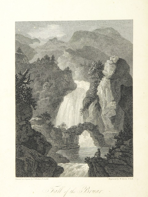 """engraving from """"Scottish Scenery: or, Sketches in verse, descriptive of scenes chiefly in the Highlands of Scotland: accompanied with notes and illustrations; and ornamented with engravings by W. Byrne ... from views painted by G. Walker, etc"""""""