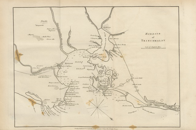"""map from """"An Account of the Island of Ceylon; ... to which is added, the Journal of an Embassy to the Court of Candy"""""""