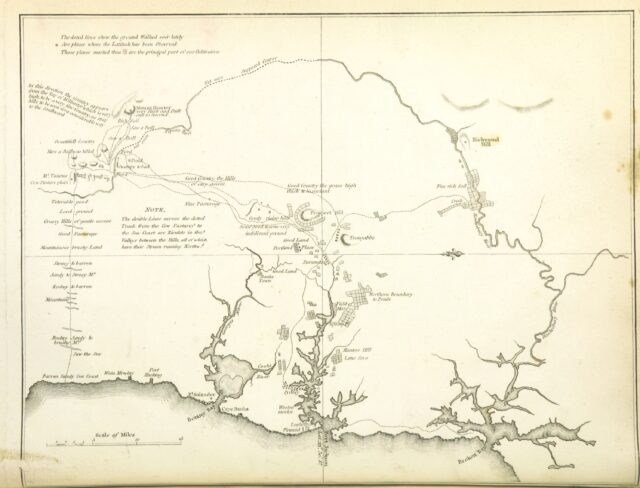 "map from ""[An Account of the English Colony in New South Wales ... To which are added, some particulars of New Zealand; compiled ... from the MSS. of Lieutenant-Governor King ... Illustrated by engravings.]"""