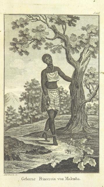 """portrait from """"Landreise aus Ostindien nach Europa, unternommen im Jahre 1797 auf einem ... wenig bekannten Wege durch die ... Türkey, Siebenbürgen, Ungarn und Teutschland. Auszugsweise aus dem Englischen übersetzt. L. Degrandprés Reise nach der westlichen Küste von Afrika, oder dem Königreiche Loango, in den Jahren 1786 und 1787. Aus dem Französischen übersetzt ... von M. C. Sprengel"""""""