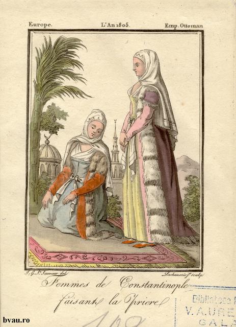 Famme de Constantinopole faisant la priere