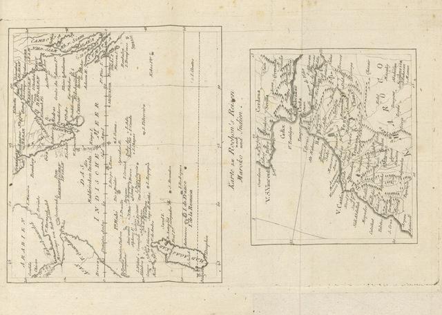 """map from """"A. Rochon's ... Reise nach Maroko und Indien. Aus dem Französischen im Auszuge übersetzt [by T. F. Ehrmann]. J. B. Bory de St. Vincents ... Reise nach den Kanarien-Inseln, nebst einer Geschichte und Beschreibung derselben. Aus dem Französischen übersetzt von T. F. Ehrmann. Mit zwey Kupfern, etc"""""""