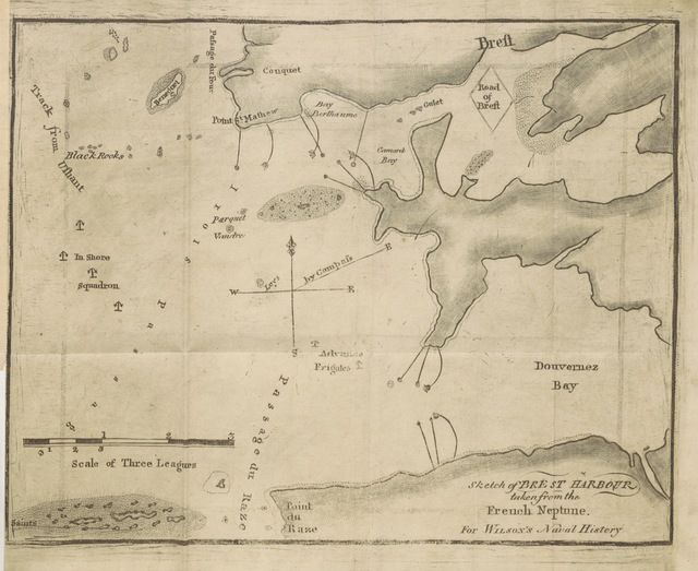 "map from ""Naval History of the United Kingdom. Including an account of the naval and maritime transactions of the Phœnicians, Egyptians, Chinese, etc. (Appendix.)"""