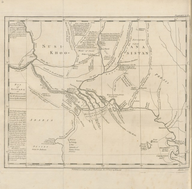"""map from """"The Commerce and Navigation of the Ancients in the Indian Ocean"""""""