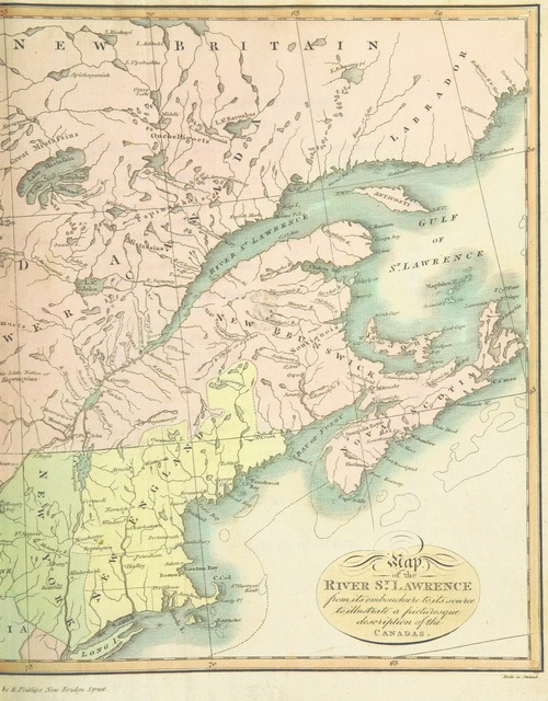 """map from """"Travels through the Canadas, ... to which is subjoined a comparative view of the manners and customs of several of the Indian nations of North and South America, etc"""""""