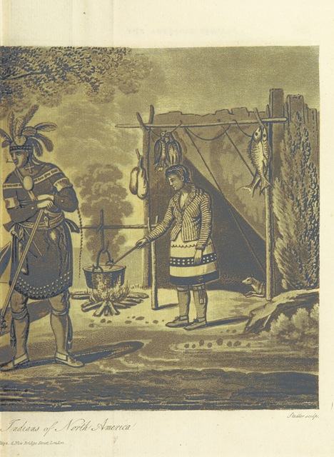 """Native Americans from """"Travels through the Canadas, ... to which is subjoined a comparative view of the manners and customs of several of the Indian nations of North and South America, etc"""""""