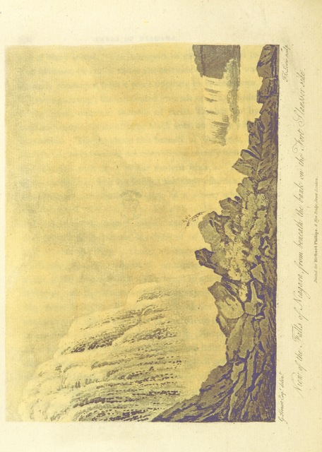 """Niagara Falls from """"Travels through the Canadas, ... to which is subjoined a comparative view of the manners and customs of several of the Indian nations of North and South America, etc"""""""