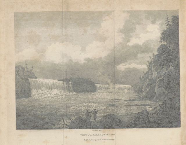 """Niagara Falls from """"[Travels through the States of North America, and the Provinces of Upper and Lower Canada, during the years 1795, 1796, and 1797.]"""""""
