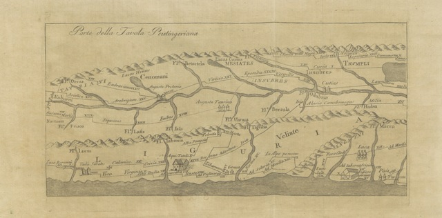 """map from """"Le Antichità di Tortona e suo agro corrispondente alli quattro odierni circondarj cisapennini del dipartimento di Genova, etc. (Appendice. Serie de' vescovi di Tortona.)"""""""