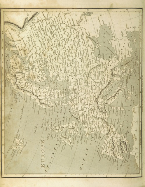 """map from """"The Voyages and Travels of Capt. Cook, Mungo Park, La Perouse, and others; ... with a ... geographical description of the World. Embellished with ... engravings and maps. (The World or the present state of the Universe. ... Vol. II.)"""""""
