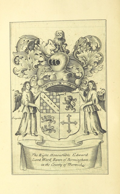 """coat of arms from """"[An history of Birmingham ... With a new introduction by Christopher R. Erington.]"""""""
