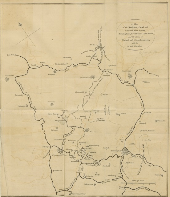 """map from """"[An history of Birmingham ... With a new introduction by Christopher R. Erington.]"""""""