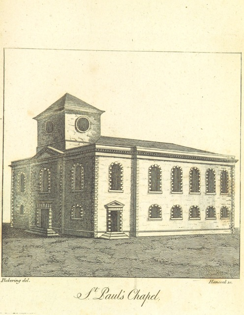 """St Paul's Church from """"[An history of Birmingham ... With a new introduction by Christopher R. Erington.]"""""""
