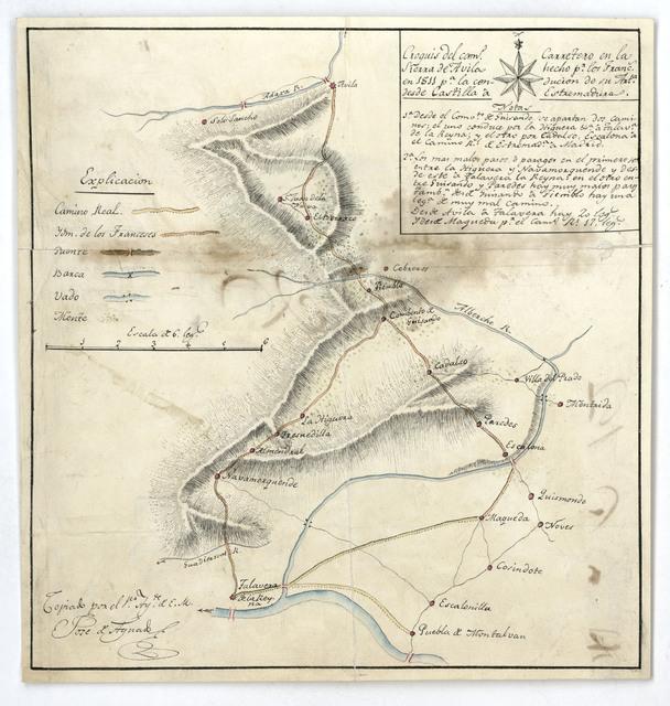 Croquis del camo. Carretero en la Sierra de Avila hecho pr. los Francs. en 1811 pa. la conducion de su Arta. desde Castilla a Estremadura