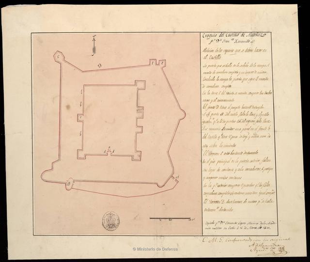 Croquis del Castillo de Alcañiz