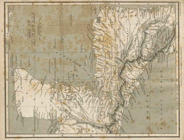 "map from ""[An account of the British Settlement of Honduras. ... To which are added, Sketches of the Manners and Customs of the Mosquito Indians, preceded by the Journal of a Voyage to the Mosquito Shore.]"""
