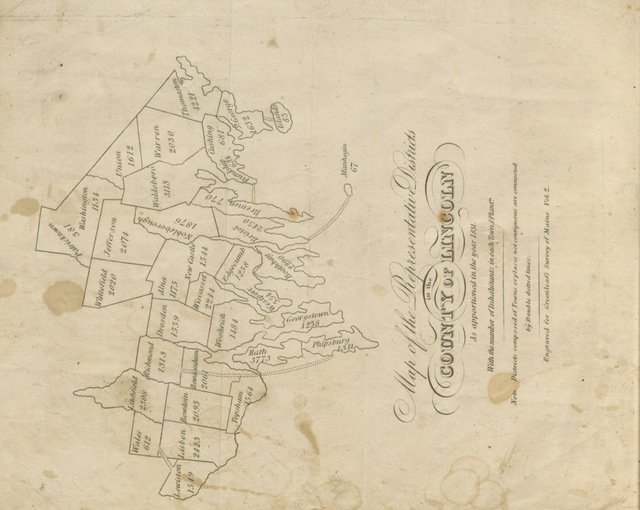 "map from ""Order of both branches of the Legislature of Massachusetts to appoint Commissioners to investigate the causes of the difficulties in the County of Lincoln: and the Report of the Commissioners thereon, with the documents in support thereof"""