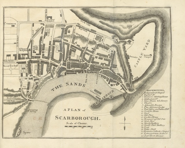 """map from """"[The history and Antiquities of Scarborough and the Vicinity, with views and plans.]"""""""