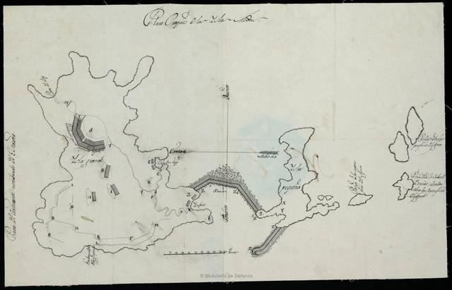 Plano Croquis de la Isla Meda