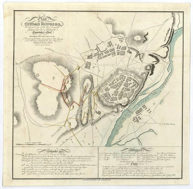 Plan of Ciudad Rodrigo, describing its Siege by the Allied Army 1812 General the Earl of Wellington Commander in Chief : By Permission of the Quarter Master General