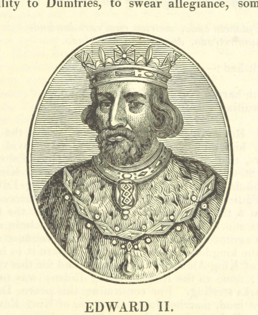 "Edward II from ""The History of the Kingdom of Scotland ... to the happy Union of both kingdoms ... in 1602 ... By Richard Burton (N. Crouch). A new edition, with woodcut portraits [of the first part of ""The History of the Kingdoms of Scotland and Ireland.""] [Edited by James Caulfield.] L.P"""