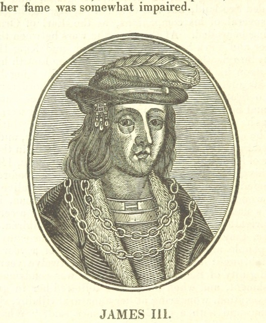 "James III from ""The History of the Kingdom of Scotland ... to the happy Union of both kingdoms ... in 1602 ... By Richard Burton (N. Crouch). A new edition, with woodcut portraits [of the first part of ""The History of the Kingdoms of Scotland and Ireland.""] [Edited by James Caulfield.] L.P"""