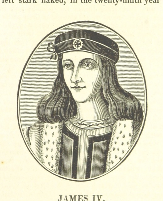 "James IV from ""The History of the Kingdom of Scotland ... to the happy Union of both kingdoms ... in 1602 ... By Richard Burton (N. Crouch). A new edition, with woodcut portraits [of the first part of ""The History of the Kingdoms of Scotland and Ireland.""] [Edited by James Caulfield.] L.P"""