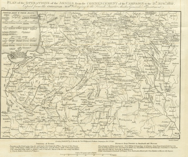 "Map from ""Northern Campaigns, from the commencement of the War in 1812 to the Armistice signed and ratified June 4, 1813; with an appendix, containing all the bulletins issued by the French ruler ... Illustrated by maps ... and plans, etc"""