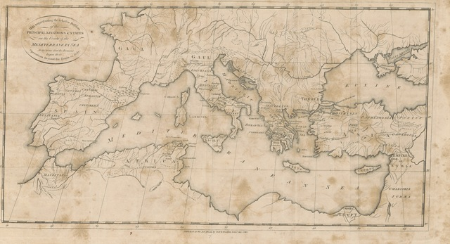 """map from """"The History of the Progress and Termination of the Roman Republic ... A new edition ... revised and corrected. With maps"""""""