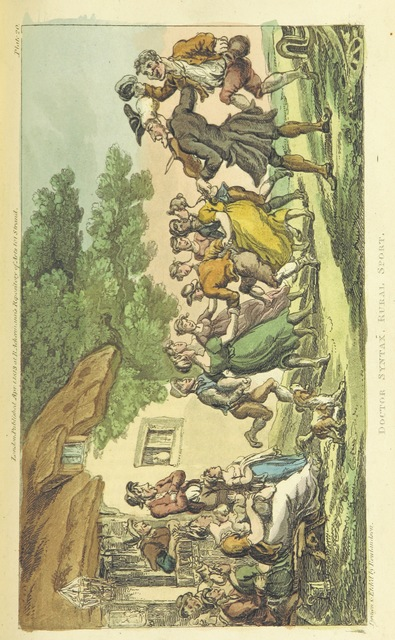 """people from """"The Tour of Doctor Syntax: in search of the picturesque ... Fifth edition, with new plates. [By William Combe.]"""""""