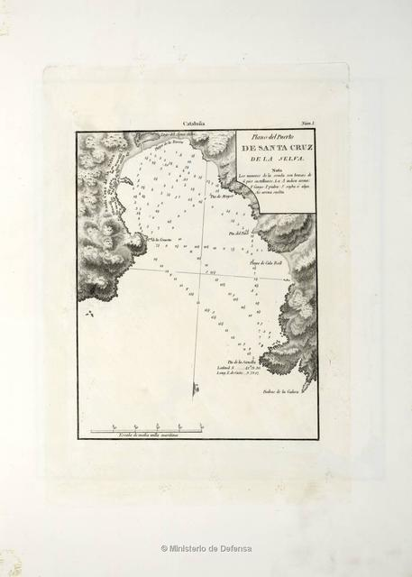 Plano del Puerto de Santa Cruz de la Selva
