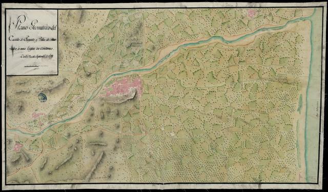 Plano Geométrico del Castillo de Sagunto y Villa de Murviedro á una legua de Contorno