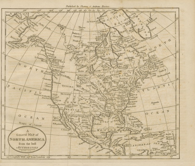 """map from """"A compendious and complete system of Modern Geography. Or a view of the present state of the World. Being a faithful abridgement of the American Universal Geography (edition of 1812,) with corrections and additions. ... Illustrated by a representation of the Solar System, and six maps of the principal divisions of the Globe"""""""