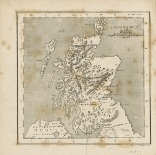 "map from ""[An Enquiry into the History of Scotland preceding the Reign of Malcolm III., or the year 1056. (A dissertation on the origin and progress of the Scythians.) ... In two volumes.]"""