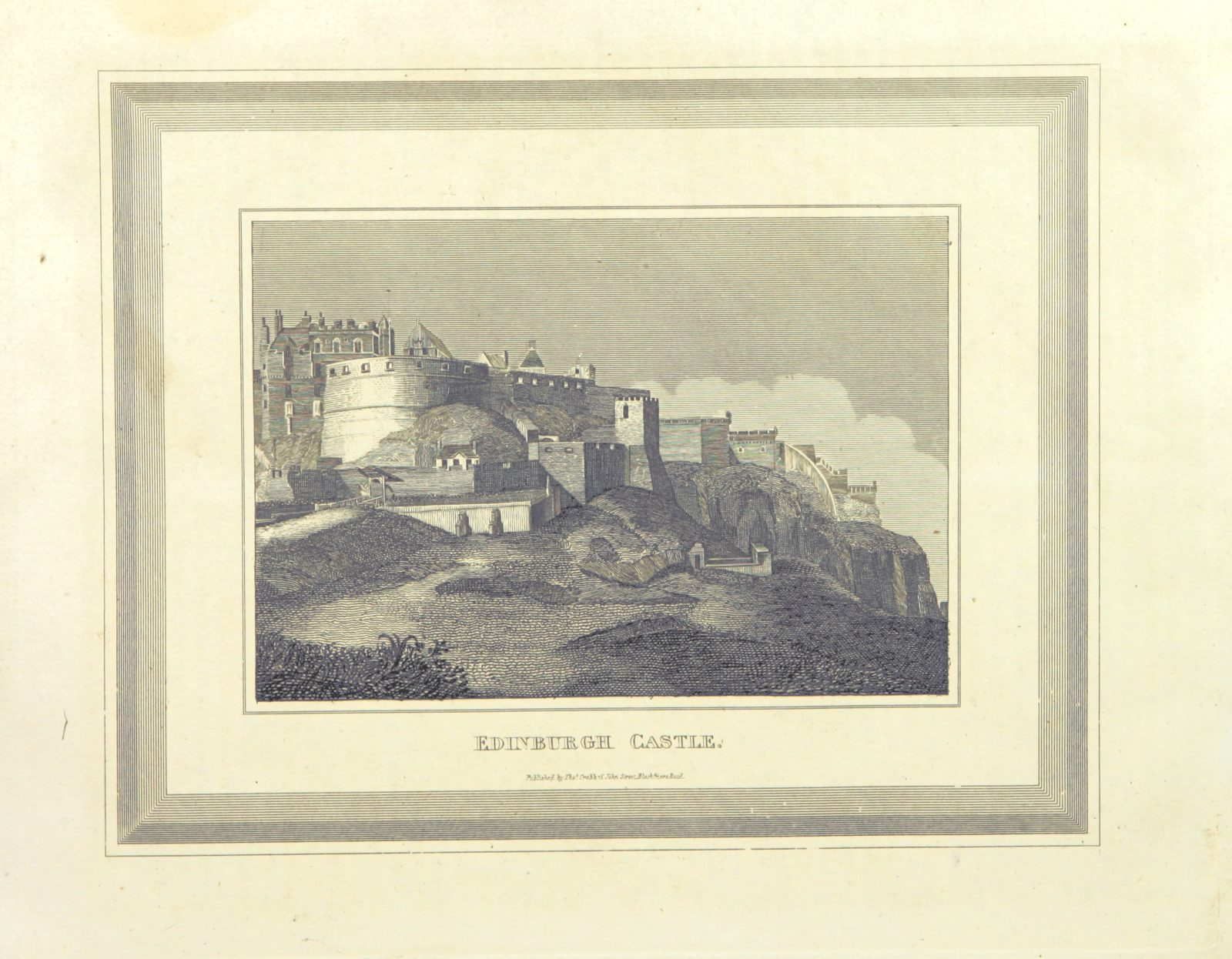 """Edinburgh from """"The History of Scotland ... embellished with elegant engravings"""""""