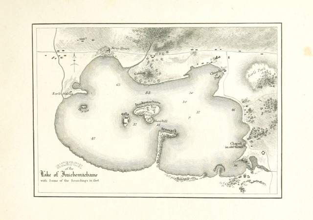 """map from """"Notes historical and descriptive, on the Priory of Inchmahome, etc"""""""