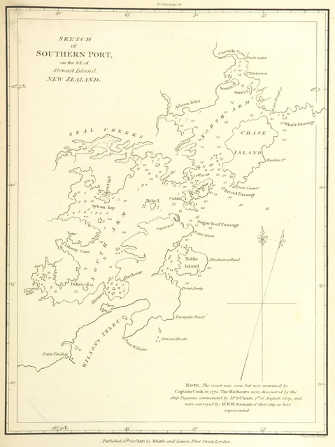 """map from """"Tables of the Positions, or of the Latitudes and Longitudes of Places, composed to accompany the Oriental Navigator; or sailing directions for the East Indies, China, Australia, &c. With notes, explanatory and descriptive"""""""