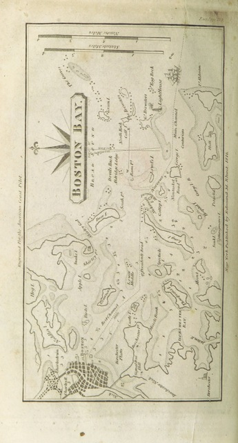 """map from """"The American Coast Pilot ... from Passamaquoddy, through the Gulf of Florida ... together with the courses and distances from Cape Cod and Cape Ann ... to George's Bank ... Corrected and improved ... Ninth edition"""""""