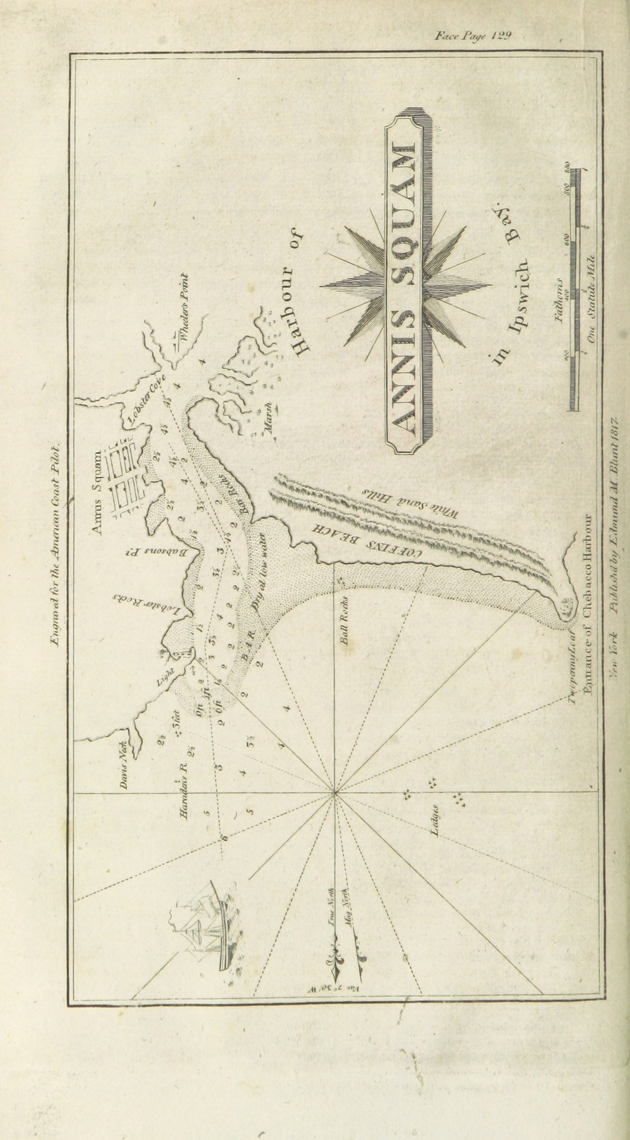 Cape Cod Florida Map.Map From The American Coast Pilot From Passamaquoddy Through