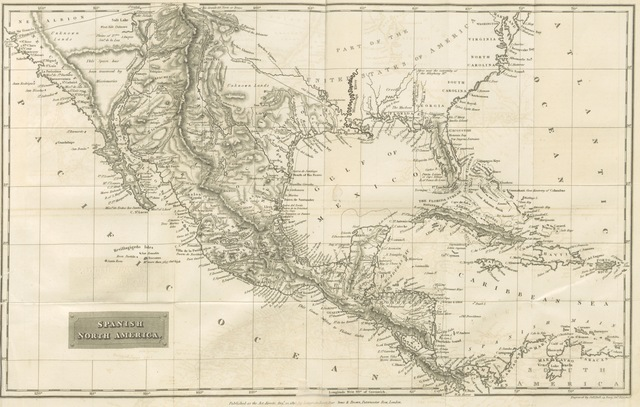 """Central America from """"Spanish America; or, a Descriptive, historical and geographical account of the dominions of Spain in the western hemisphere, etc. [With maps.]"""""""