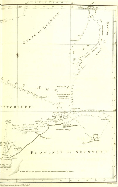 "map from ""Account of a Voyage of Discovery to the West Coast of Corea, and the Great Loo-Choo Island. With an appendix ... and a vocabulary of the Loo-Choo Language, by H. I. Clifford"""
