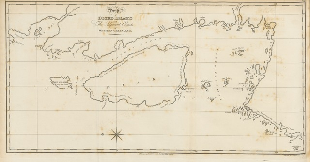 """map from """"Greenland, the adjacent seas, and the North-West Passage to the Pacific Ocean, illustrated in a voyage to Davis's Strait, during the summer of 1817"""""""
