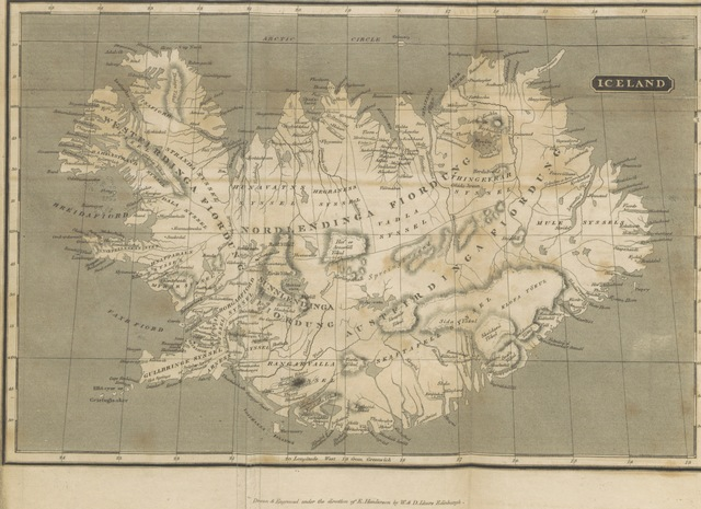 "map from ""Iceland; or the journal of a residence in that Island during the years 1814 and 1815, ... With an introduction and appendix, ... a map and engravings"""