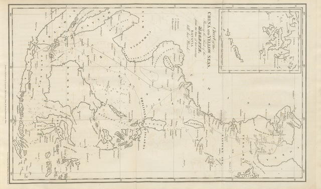 """map from """"Narrative of a Journey in the Interior of China, and of a voyage to and from that country, in the years 1816 and 1817; containing an account of the most interesting transactions of Lord Amherst's Embassy to the Court of Pekin, etc. [With plates and maps.]"""""""