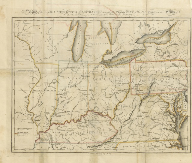 """map from """"[Notes on a journey in America, from the coast of Virginia to the territory of Illinois ... The third edition.]"""""""