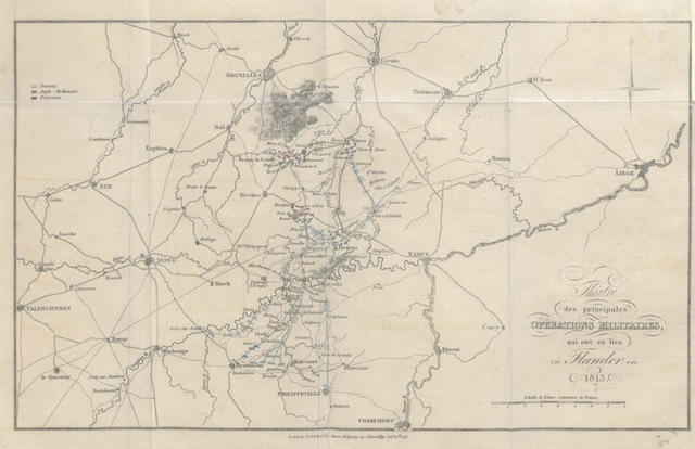 "map from ""The Campaign of 1815; or, a narrative of the military operations which took place in France and Belgium during the Hundred Days, etc"""