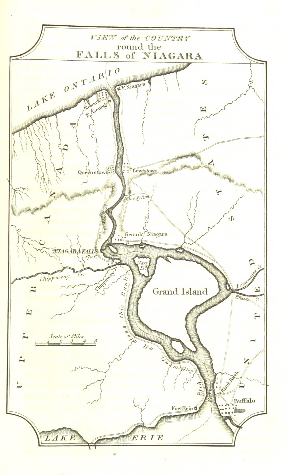 Map From Travels In The United States Of America In 1806 1807 - Us-map-1819