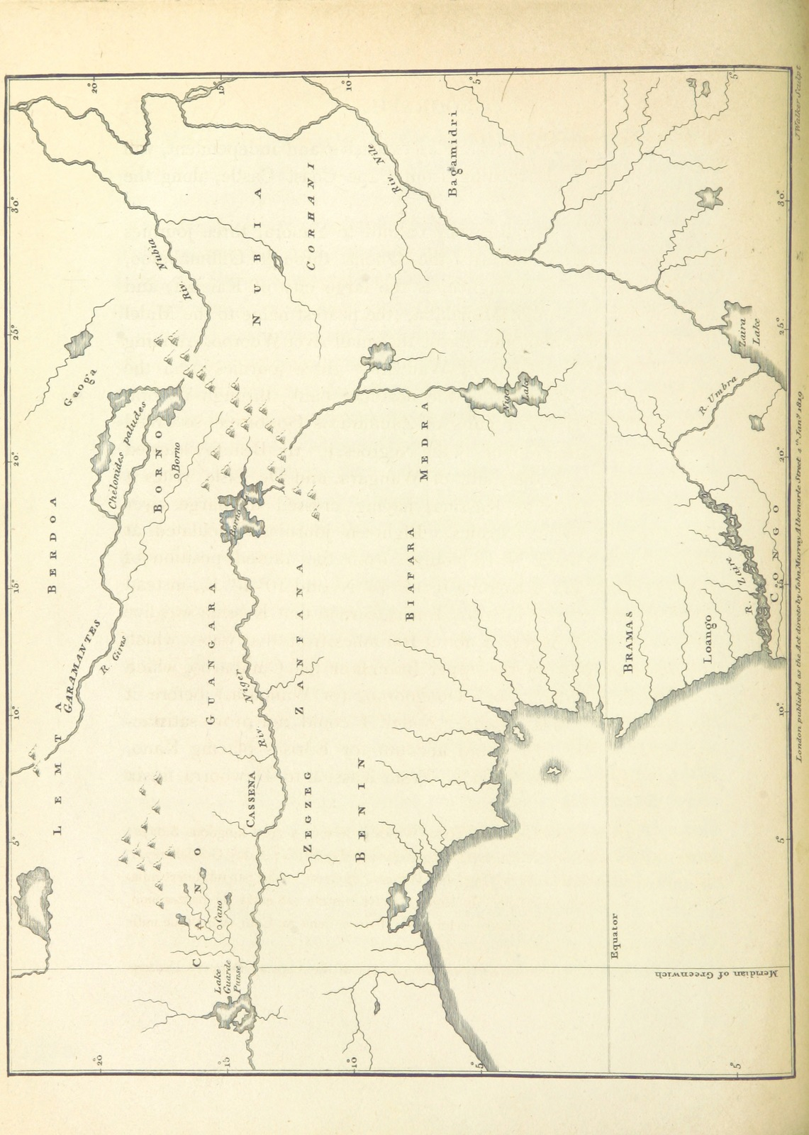 """map from """"Mission from Cape Coast Castle to Ashantee; with a statistical account of that kingdom, and geographical notices of other parts of the interior of Africa. [With plates and maps.]"""""""
